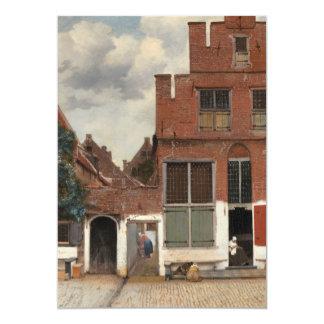 La pequeña calle de Juan Vermeer Invitación 12,7 X 17,8 Cm