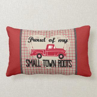 La pequeña ciudad arraiga la almohada lumbar