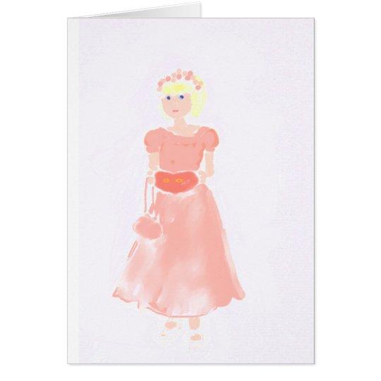 la pequeña dama de honor tarjeta