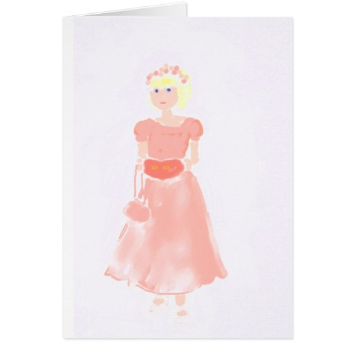 la pequeña dama de honor tarjeta de felicitación