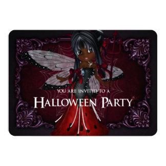 La pequeña fantasía Halloween de la mariquita del Invitación 12,7 X 17,8 Cm
