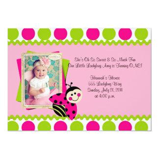 La pequeña mariquita preciosa invita invitación 12,7 x 17,8 cm