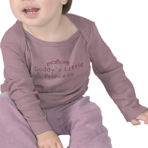 La pequeña princesa del papá impreso del diamante  camiseta