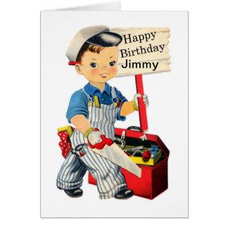 La pequeña tarjeta de cumpleaños del carpintero