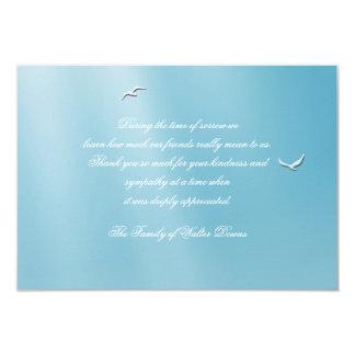 La pérdida azul del cielo le agradece Notecard Invitación 8,9 X 12,7 Cm