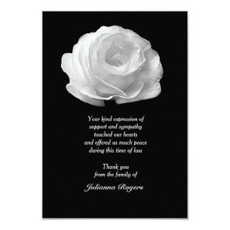 La pérdida del rosa blanco le agradece Notecards Invitación 8,9 X 12,7 Cm