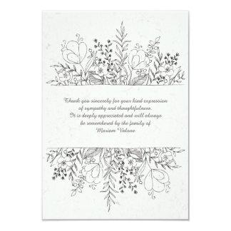 La pérdida floral de la conmemoración le agradece invitación 8,9 x 12,7 cm
