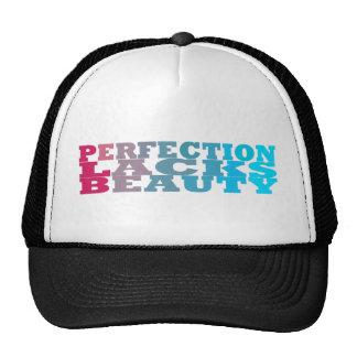La perfección carece belleza gorros bordados
