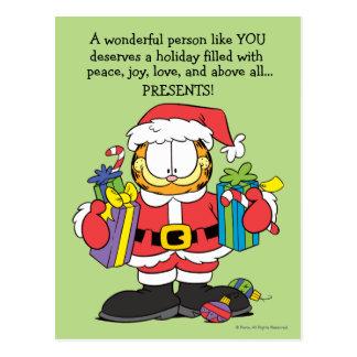 La persona maravillosa tiene gusto de usted postal