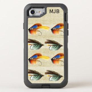 La pesca con mosca del vintage vuela premio con funda OtterBox defender para iPhone 8/7