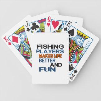 La pesca de jugadores hace vida mejor y diversión baraja cartas de poker