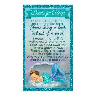 La petición del libro del bebé de la sirena tarjetas de visita