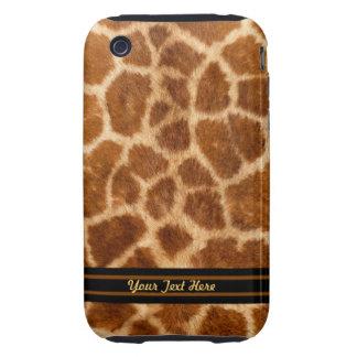 La piel 3G de la jirafa dura - personalice Tough iPhone 3 Funda