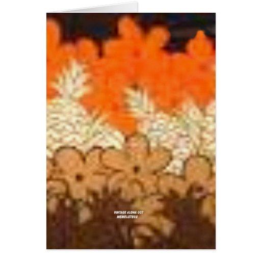 La piña coloca (la impresión de la hawaiana del vi tarjeton