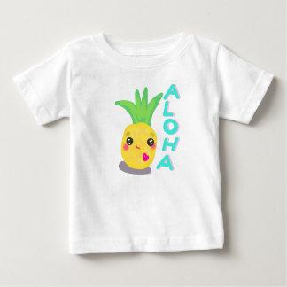 La piña linda dice hawaiana camiseta de bebé