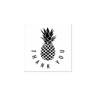 la piña tropical moderna le agradece sello de caucho