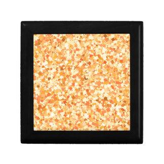 La pintada de oro del confeti de la plantilla DIY Joyero Cuadrado Pequeño