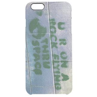 La pintada el | usted está en un vuelo de la roca funda transparente para iPhone 6 plus