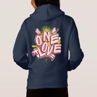 La pintada embroma sudadera con capucha: Un amor