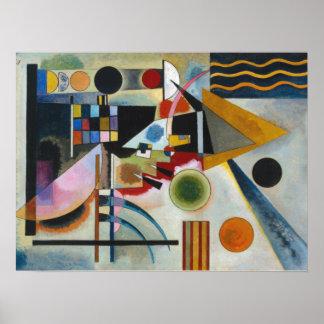 La pintura abstracta de balanceo de Kandinsky Póster