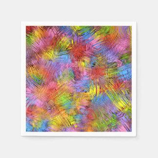 La pintura coloreada salpica servilleta desechable