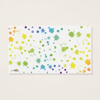 La pintura del color gotea la tarjeta