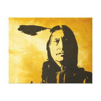 La pintura entited al indio alto Stre del Arapaho Lienzo Envuelto Para Galerias
