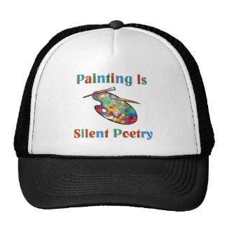 La pintura es gorra silencioso del artista de la p