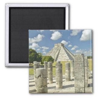 La pirámide de Kukulkan Imán Para Frigorífico