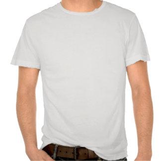 La pistola recta se descoloró destruido camisetas