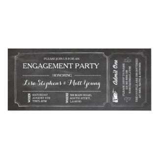 La pizarra del billete de grupo de compromiso invitación 10,1 x 23,5 cm