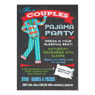 La pizarra junta invitaciones del fiesta de pijama invitación 12,7 x 17,8 cm