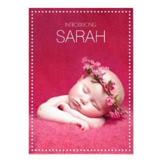 La pizarra puntea invitaciones del nacimiento invitación 12,7 x 17,8 cm