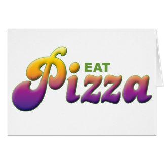 La pizza come felicitaciones