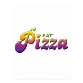 La pizza come postal