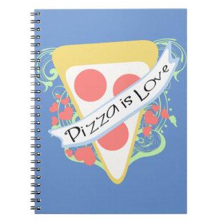 La pizza es amor libreta