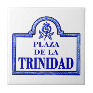 La placa de calle de Trinidad, Granada del de la Azulejo Cuadrado Pequeño