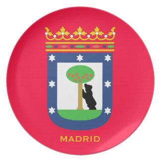 La placa de colector de MADRID* Plato De Cena