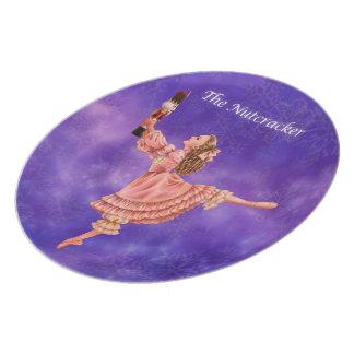 La placa del recuerdo del ballet del cascanueces plato