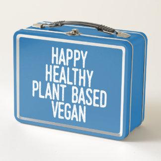 La planta sana feliz basó al vegano (blanco)