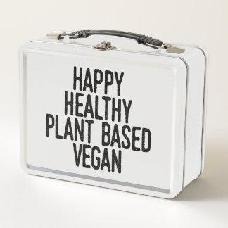 La planta sana feliz basó al vegano (el negro)