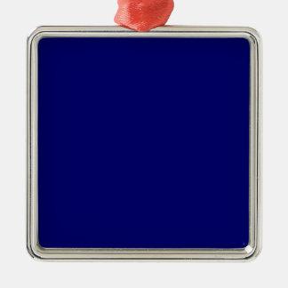 La plantilla azul más oscura de Jánuca Chanukah Ha Ornamento De Navidad