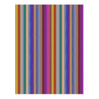 La plantilla colorida de las rayas añade gráficos postal