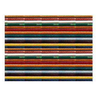 La plantilla colorida grabada en relieve de las postal