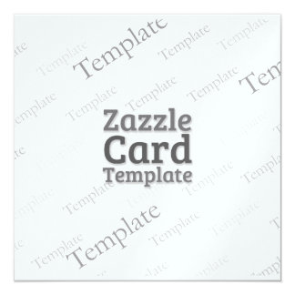 La plantilla de encargo de la tarjeta de Zazzle Invitación 13,3 Cm X 13,3cm