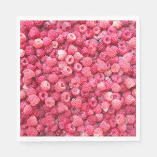la plantilla de las frambuesas rojas a modificar servilleta de papel