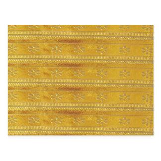 La plantilla de oro del oro añade palabra de la postal