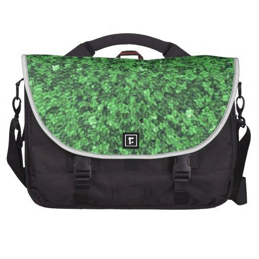 La plantilla verde de las causas del ambiente bolsas de portátil