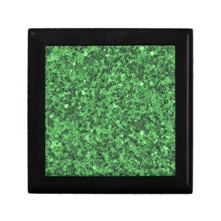 La plantilla verde de las causas del ambiente caja de regalo