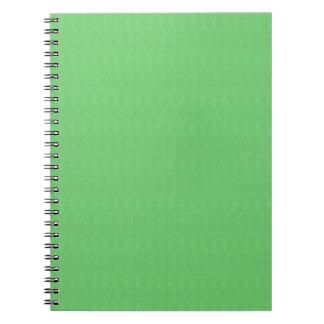 La plantilla verde DIY del espacio en blanco de la Cuaderno